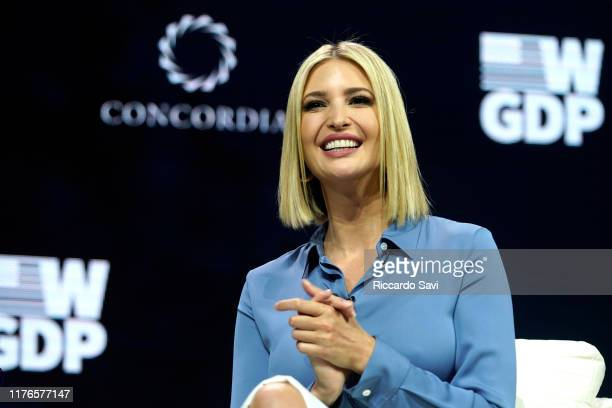 Advisor to the President Ivanka Trump speaks onstage during the 2019 Concordia Annual Summit - Day 1 at Grand Hyatt New York on September 23, 2019 in...