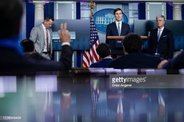 Advisor to the President on SerbiaKosovo Richard Grenell Senior Advisor to the President Jared Kushner and National Security Advisor Robert O'Brien...