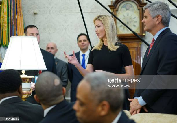 Advisor to US President Donald Trump Ivanka Trump is seen during a working session on opportunity zones following the recently signed tax bill in the...