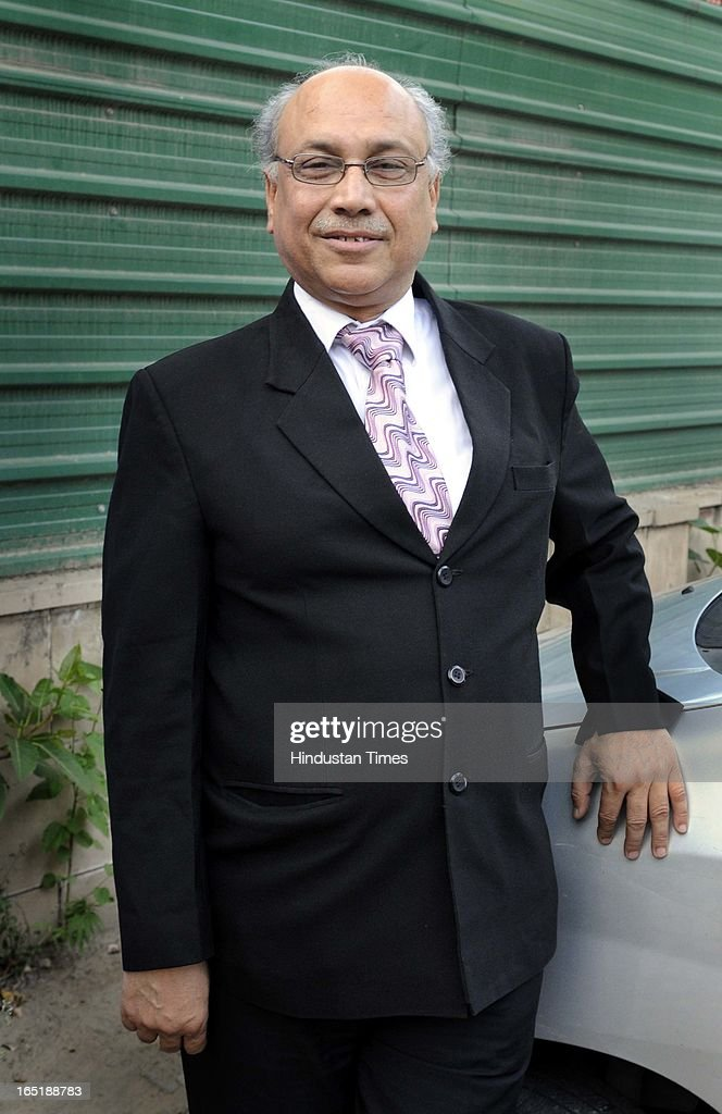 Advocate Ashok Aggarwal at Delhi High Court on April 1, 2013 in New Delhi, India. His consistent battle for the right of poor to have good education through PILs has forced the education system to bring accountability and reforms. He also is credited for EWS students quota in Private schools.