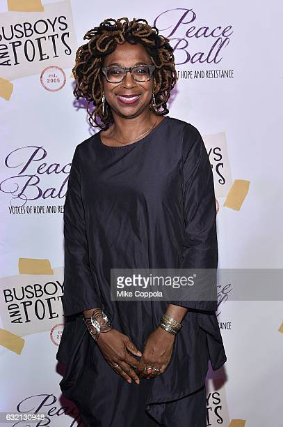 Advocate Kimberle Williams Crenshaw attends the Busboys and Poets' Peace Ball Voices of Hope and Resistance at National Museum Of African American...