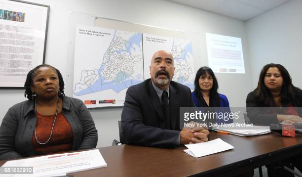 Advocates Esmeralda Simmons executive director of the Center for Law and Social Justice at Medgar Evers College Juan Cartagena president of...