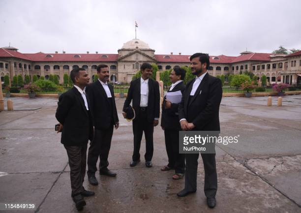 Advocates internal discussion at front of The Allahabad High Court .The Allahabad High Court or the High Court of Judicature at Allahabad is a high...