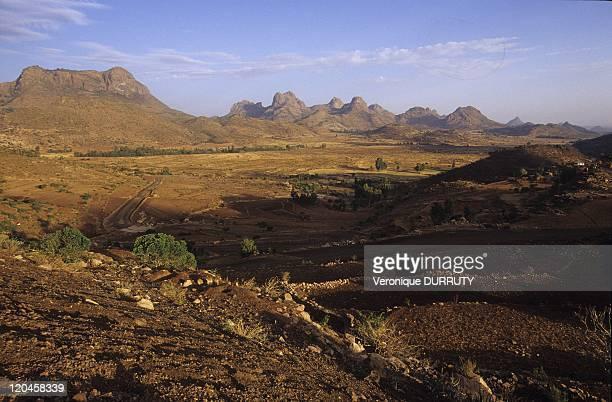 Adwa mountains in Axum Tigray Ethiopia