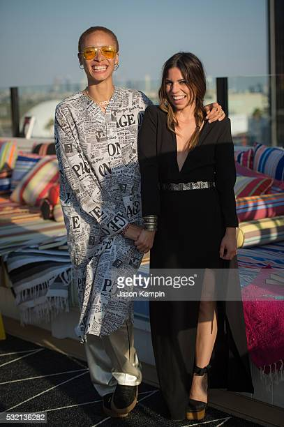 Adwoa Aboah and Ally Hilfiger attend a party for Bite Me At Mama Shelter Hollywood on May 17 2016 in Los Angeles California