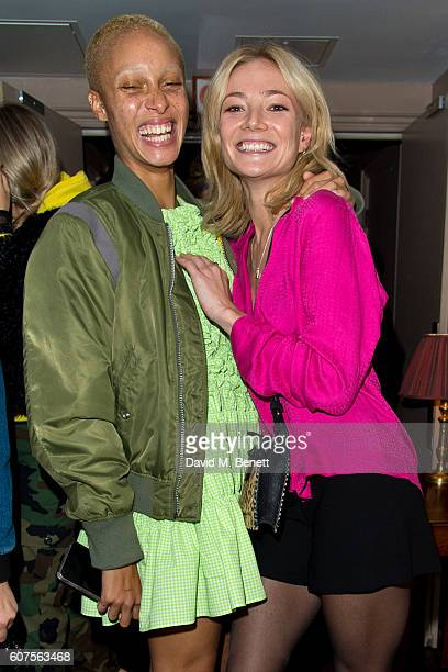 Adwoa Aboah and Clara Paget attend the launch of i-D's 'The Female Gaze' issue hosted by Holly Schkleton and Adwoa Aboah during London Fashion Week...