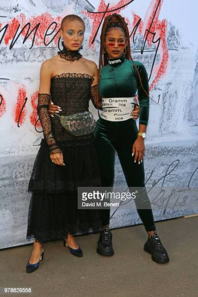 Adwoa Aboah and IAMDDB attend the Serpentine Summper Party 2018 at The Serpentine Gallery on June 19 2018 in London England