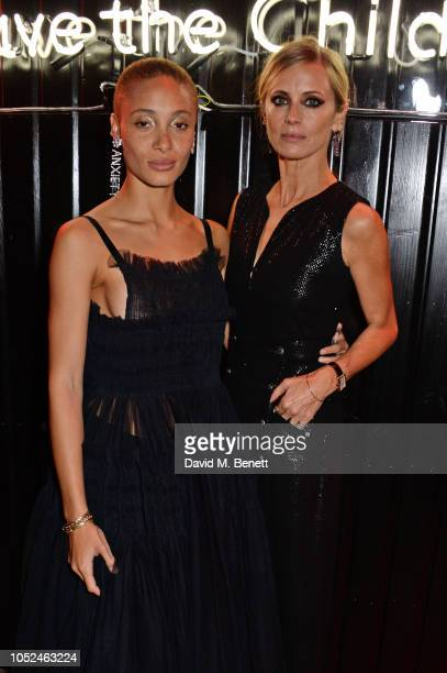 Adwoa Aboah and Laura Bailey attend the Big Up Uganda fundraising gala for Save The Children hosted by Adwoa Aboah Felix Cooper at Wild By Tart...