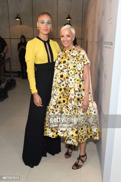Adwoa Aboah and to AnneMarie Curtis attend THE ELLE LIST 2018 in association with THEOUTNETCOM at Spring at Somerset House on June 4 2018 in London...