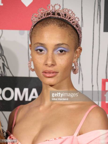 Adwoa Aboah arrives at the Fabulous Fund Fair event during London Fashion Week February 2019 at the The Roundhouse on February 18 2019 in London...