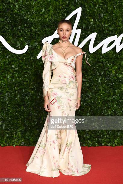Adwoa Aboah arrives at The Fashion Awards 2019 held at Royal Albert Hall on December 02 2019 in London England