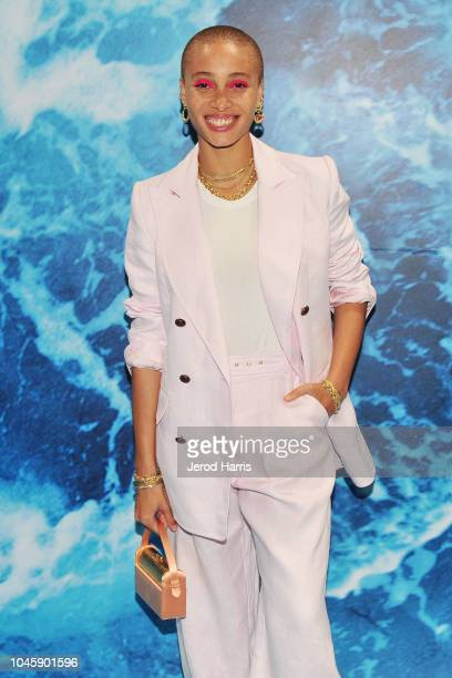 Adwoa Aboah arrives at UGG '40 Years' Anniversary Celebration at Chateau Marmont on October 4 2018 in Los Angeles California