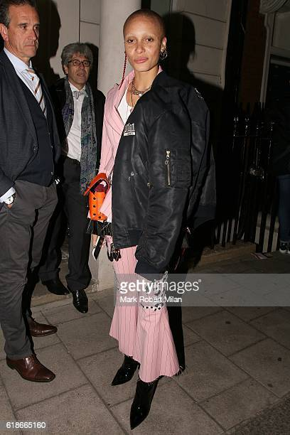 Adwoa Aboah at Mark's Club on October 27 2016 in London England