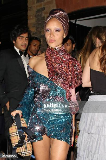 Adwoa Aboah attending The British Fashion Awards on December 3 2017 in London England