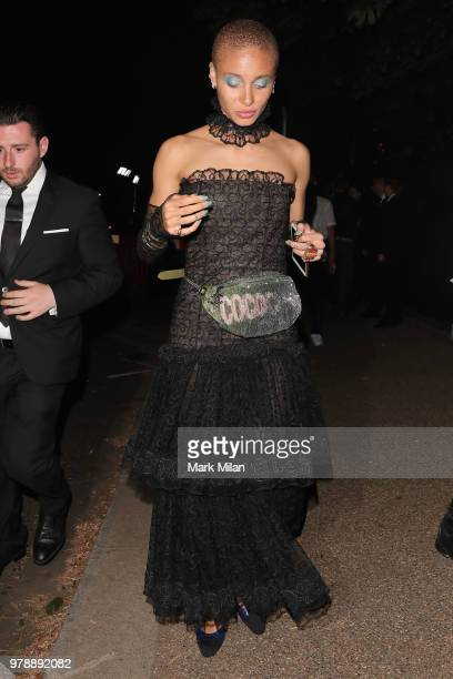 Adwoa Aboah attending the Serpentine Gallery and Chanel Summer Party 2018 on June 19 2018 in London England
