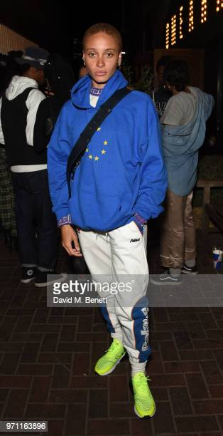 Adwoa Aboah attends a listening party for Jorja Smith's new album Lost Found at Omeara on June 10 2018 in London England