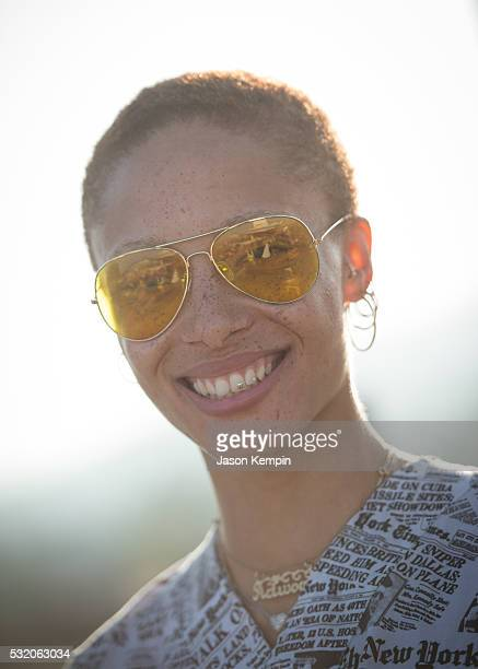 Adwoa Aboah attends a party for her new book Bite Me At Mama Shelter Hollywood on May 17 2016 in Los Angeles California