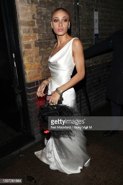Adwoa Aboah attends a Warner Records BRIT Awards 2020 afterparty at Chiltern Firehouse on February 18 2020 in London England