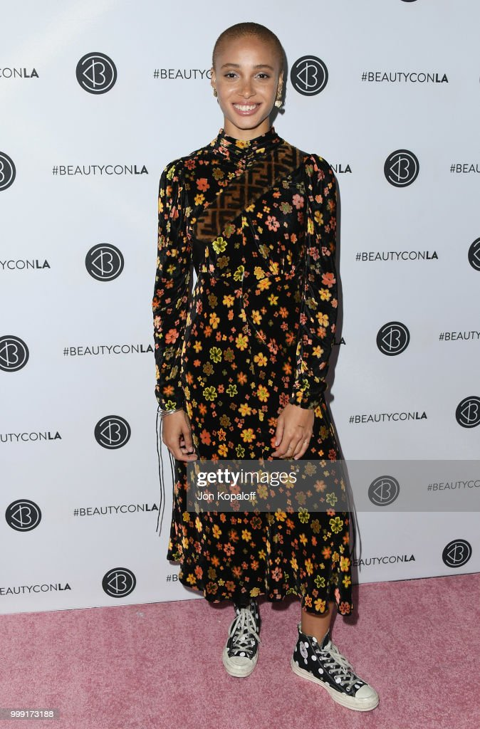 Adwoa Aboah attends Beautycon Festival LA 2018 at Los Angeles Convention Center on July 14, 2018 in Los Angeles, California.