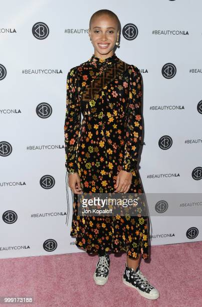 Adwoa Aboah attends Beautycon Festival LA 2018 at Los Angeles Convention Center on July 14 2018 in Los Angeles California