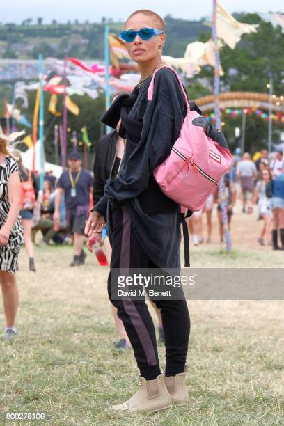 Adwoa Aboah attends day one of Glastonbury on June 23 2017 in Glastonbury England