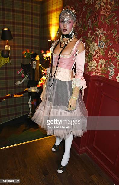 Adwoa Aboah attends Fran Cutler's Halloween Party supported by Belvedere Vodka at Albert's Club on October 31 2016 in London England