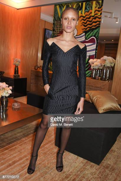 Adwoa Aboah attends Louis Vuittons Celebration of GingerNutz in Vogue's December Issue on November 21 2017 in London England