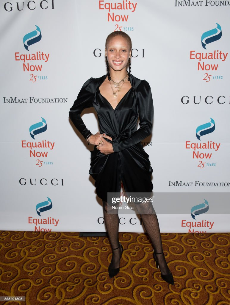 Adwoa Aboah attends the 2017 Equality Now Gala at Gotham Hall on October 30, 2017 in New York City.