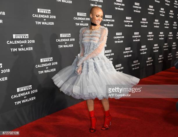 Adwoa Aboah attends the 2018 Pirelli Calendar Launch Gala at Manhattan Center on November 10 2017 in New York City / AFP PHOTO / ANGELA WEISS
