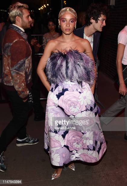 Adwoa Aboah attends the 2019 Met Gala Boom Boom Afterparty at The Standard hotel on May 06 2019 in New York City
