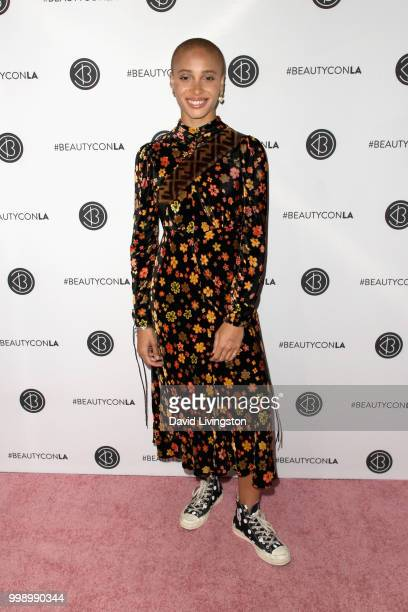 Adwoa Aboah attends the Beautycon Festival LA 2018 at the Los Angeles Convention Center on July 14 2018 in Los Angeles California
