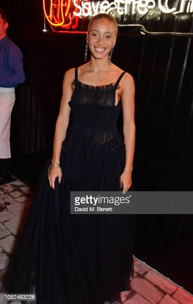 Adwoa Aboah attends the Big Up Uganda fundraising gala for Save The Children hosted by Adwoa Aboah Felix Cooper at Wild By Tart Ecclestone Yards on...