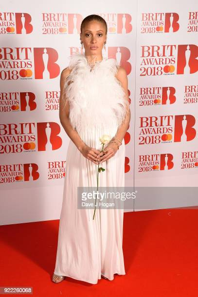 AWARDS 2018 *** Adwoa Aboah attends The BRIT Awards 2018 held at The O2 Arena on February 21 2018 in London England