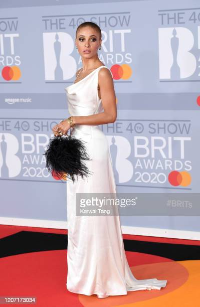 Adwoa Aboah attends The BRIT Awards 2020 at The O2 Arena on February 18, 2020 in London, England.