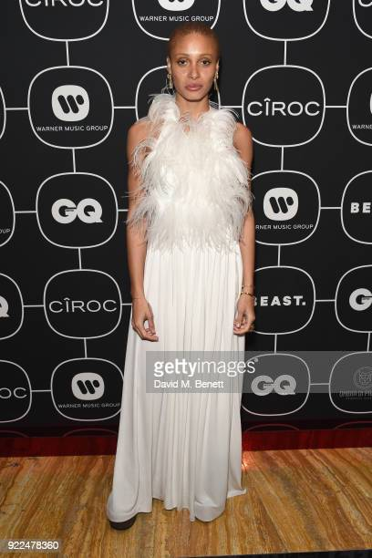 Adwoa Aboah attends the Brits Awards 2018 After Party hosted by Warner Music Group Ciroc and British GQ at Freemasons Hall on February 21 2018 in...