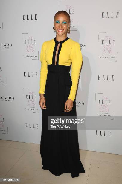 Adwoa Aboah attends The ELLE List 2018 at Somerset House on June 4 2018 in London England