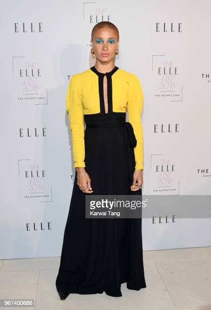 Adwoa Aboah attends The ELLE List 2018 at Spring at Somerset House on June 4 2018 in London England