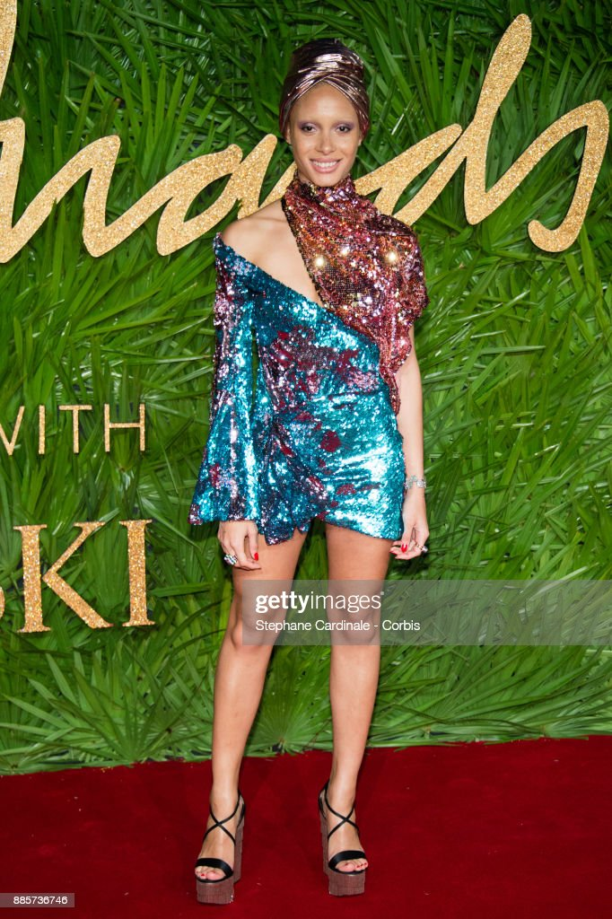 Adwoa Aboah attends the Fashion Awards 2017 In Partnership With Swarovski at Royal Albert Hall on December 4, 2017 in London, England.