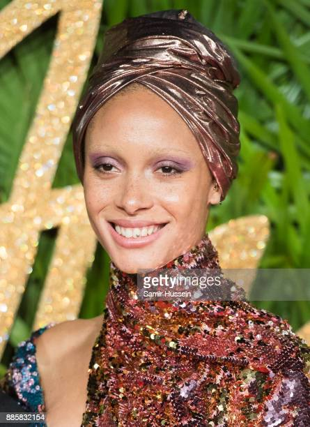 Adwoa Aboah attends The Fashion Awards 2017 in partnership with Swarovski at Royal Albert Hall on December 4 2017 in London England