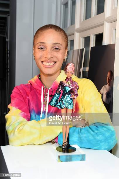 Adwoa Aboah attends the Gurls Talk x Barbie event hosted by Adwoa Aboah celebrating their collaboration at Dover Street Market on March 06 2019 in...