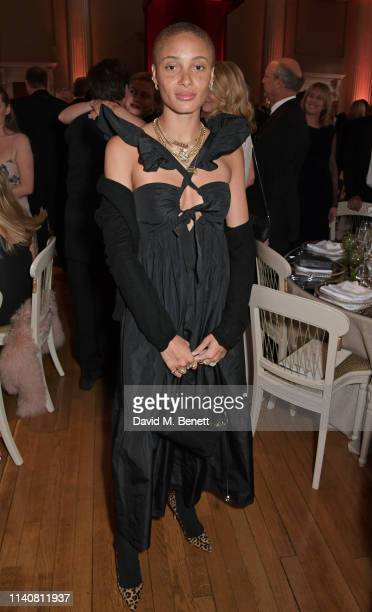 Adwoa Aboah attends The Lord Mayor Of Westminster's 'Under The Painted Sky' Gala in support of YoungMinds and Place2Be at Banqueting House on May 2...