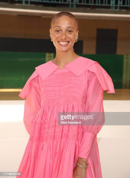 Adwoa Aboah attends the Molly Goddard show during London Fashion Week September 2019 on September 14 2019 in London England
