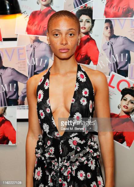 Adwoa Aboah attends the #MOVINGLOVE screening hosted by Derek Blasberg Katie Grand at Screen on the Green on July 15 2019 in London England