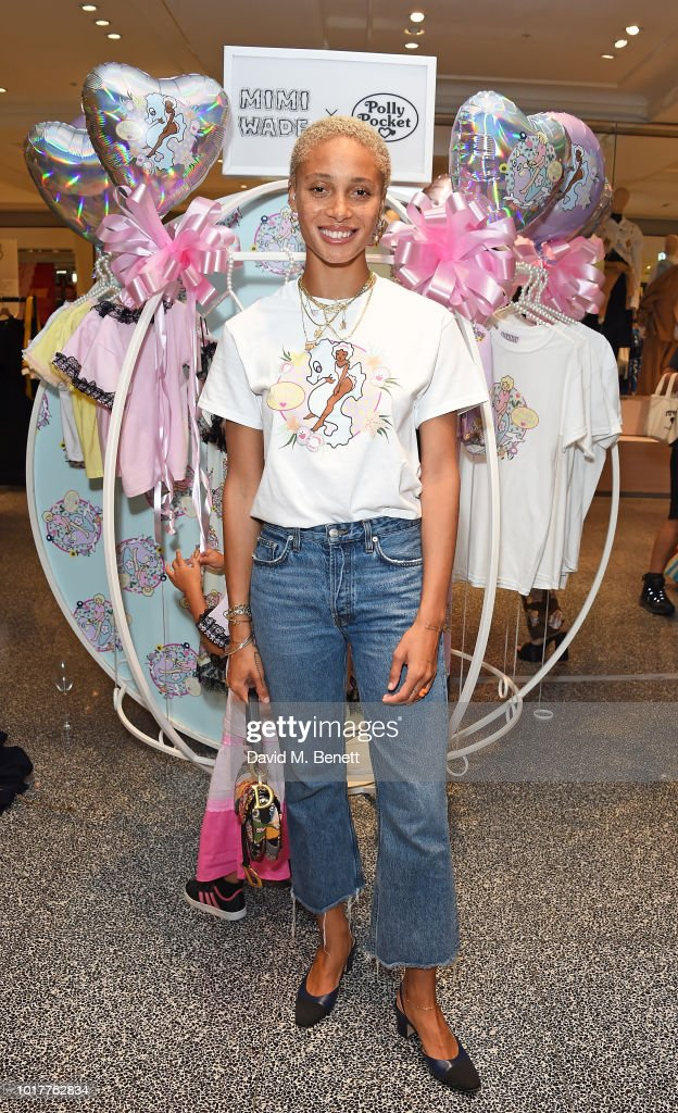 Adwoa Aboah attends the Polly Pocket x Mimi Wade launch at Selfridges on August 16, 2018 in London, England.