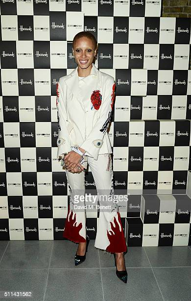 Adwoa Aboah attends the Serpentine Future Contemporaries x Harrods Party 2016 at The Serpentine Sackler Gallery on February 20 2016 in London England