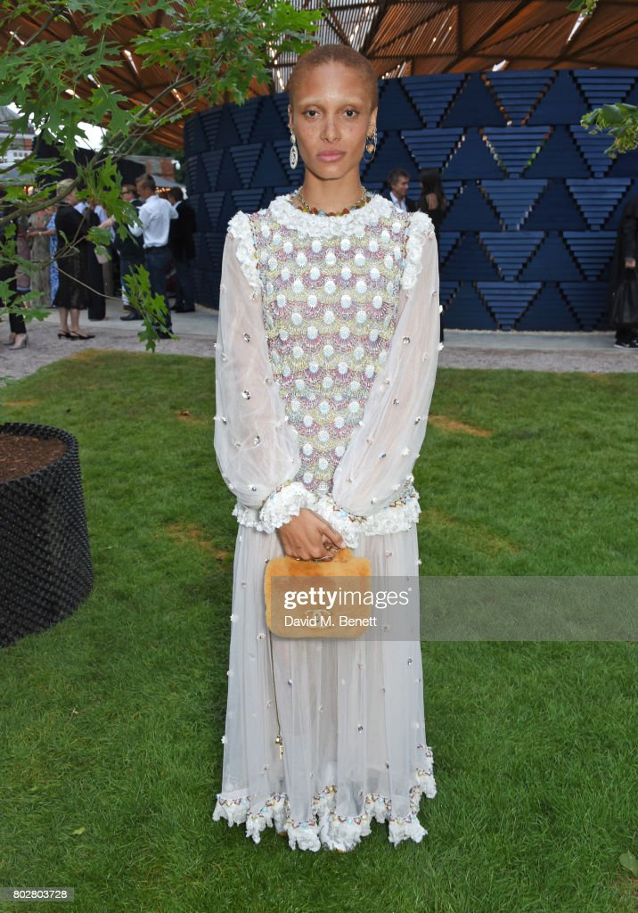 Adwoa Aboah attends The Serpentine Galleries Summer Party co-hosted by Chanel at The Serpentine Gallery on June 28, 2017 in London, England.