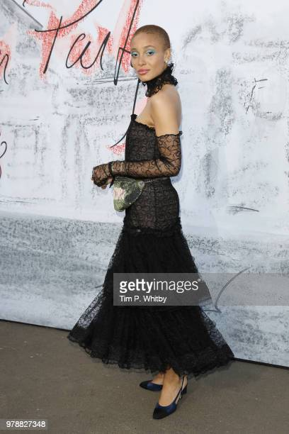Adwoa Aboah attends the Serpentine Summer Party 2018 at The Serpentine Gallery on June 19 2018 in London England