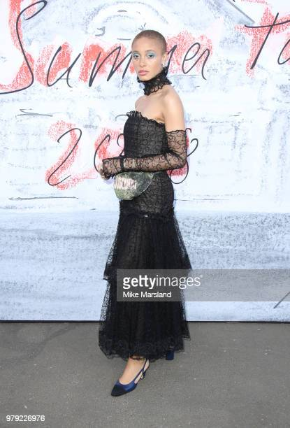 Adwoa Aboah attends The Serpentine Summer Party at The Serpentine Gallery on June 19 2018 in London England