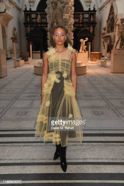 Adwoa Aboah attends the Tim Walker Wonderful Things exhibition launch at The VA in partnership with British Fashion Council on September 17 2019 in...