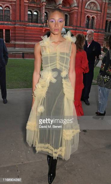 Adwoa Aboah attends the Tim Walker: Wonderful Things exhibition launch at The V&A in partnership with British Fashion Council, on September 17, 2019...